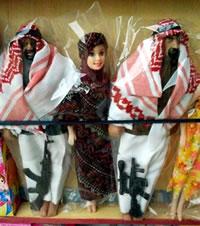 Muñecos armados encontrados en venta en Jordania